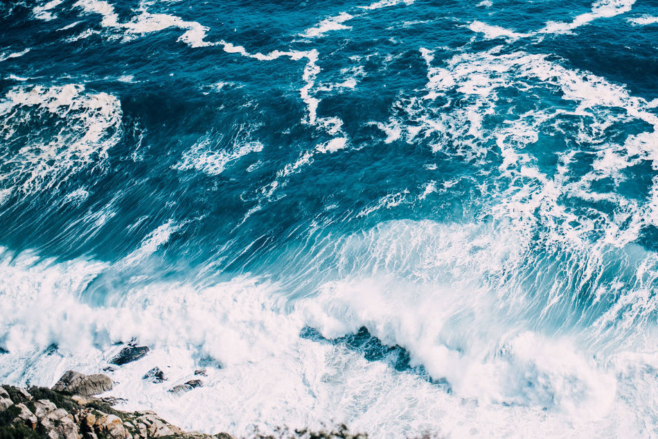 Beauty In Nature Day Nature No People Outdoors Sea Seaside Top Down Water Waves