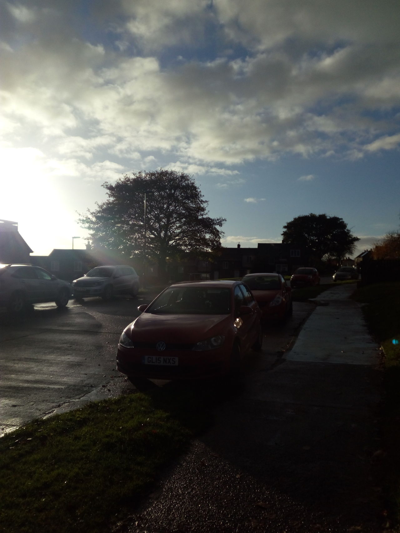 Outdoors Sky Suburban Landscape Cold Weather Sunlight Sunlight And Shadows