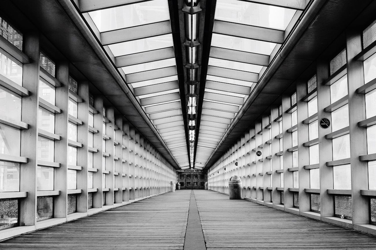 Pedestrian Bridge Depth Newyorkcity OpenEdit Manhattan AEBEX NYC Monochrome Blackandwhite