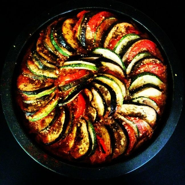 Finally .. Ratatouille . Sidney Bechet doing his magic as I cook . Frenchlouveeee Oolala Friendsluncheon