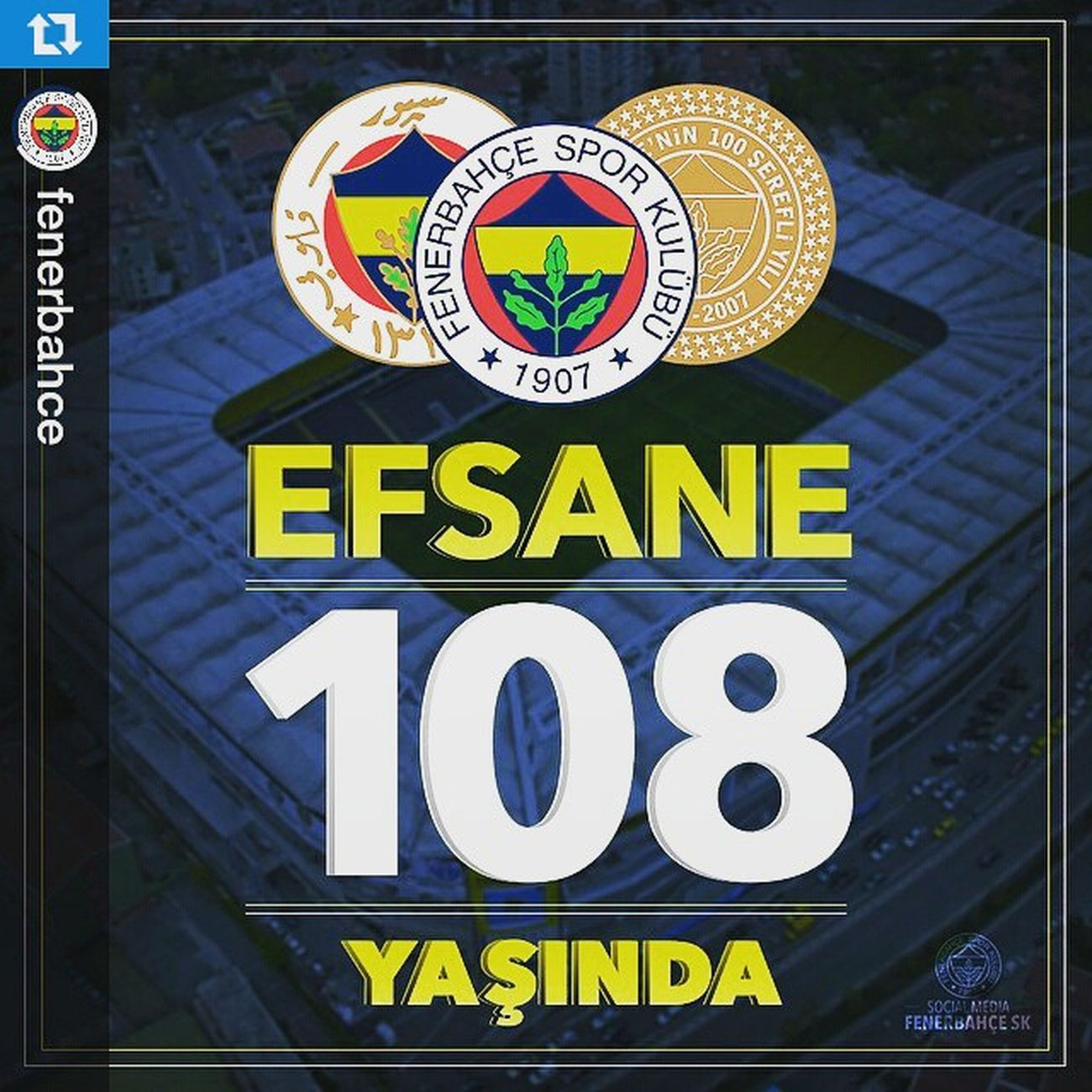 Repost @fenerbahce ・・・ FENERBAHÇEMİZ 108 YAŞINDA! Fenerbahce  InstaFB