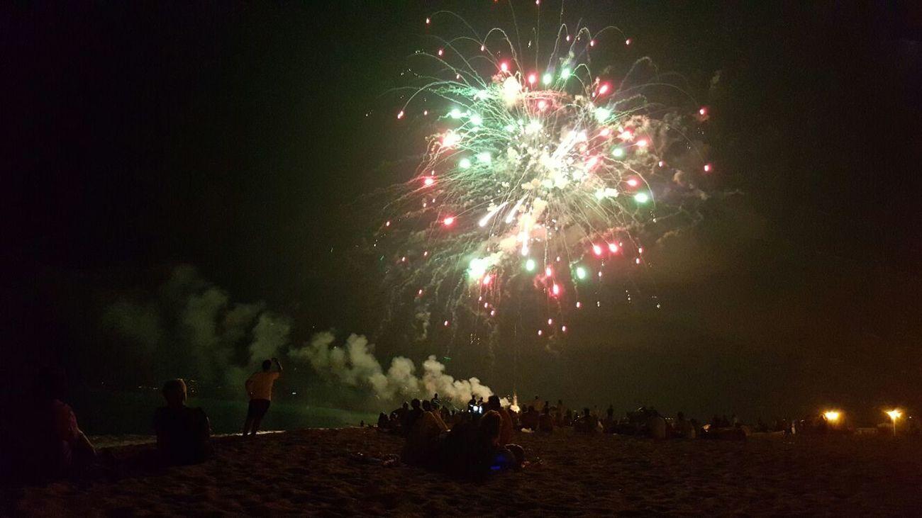 Being A Beach Bum Sea Summer Nightphotography Fireworks EyeEm Italy Nonveniteincalabria Iphone6