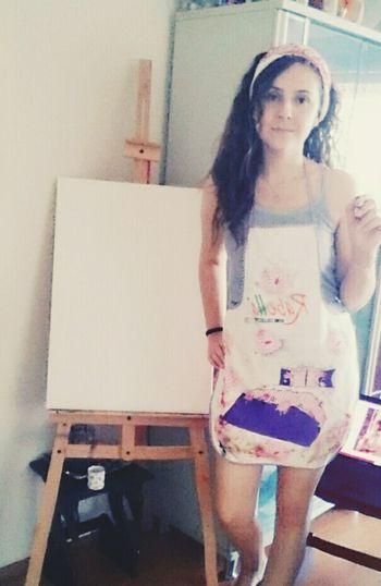 Renklerin gücü adına deyiiiip yeni tabloya başlıyorum 😄 Yağlıboya Resim Tuval Fırça Tablo Art Aşk