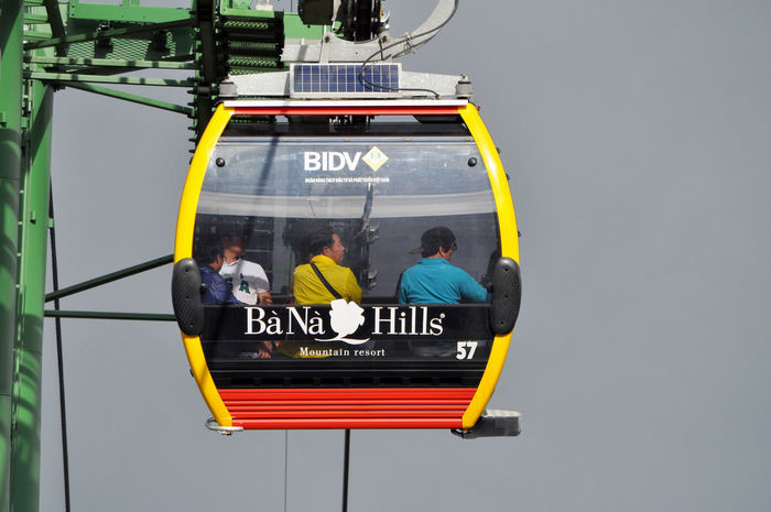 Cablecar (longest in the world) to Ba Na Hills near Danang, Vietnam. Ba Na Hills Cabins  Cablecars Danang Fog Infrastructure Mist Mountains Technology Tourism Tourists Transport Travel Vietnam