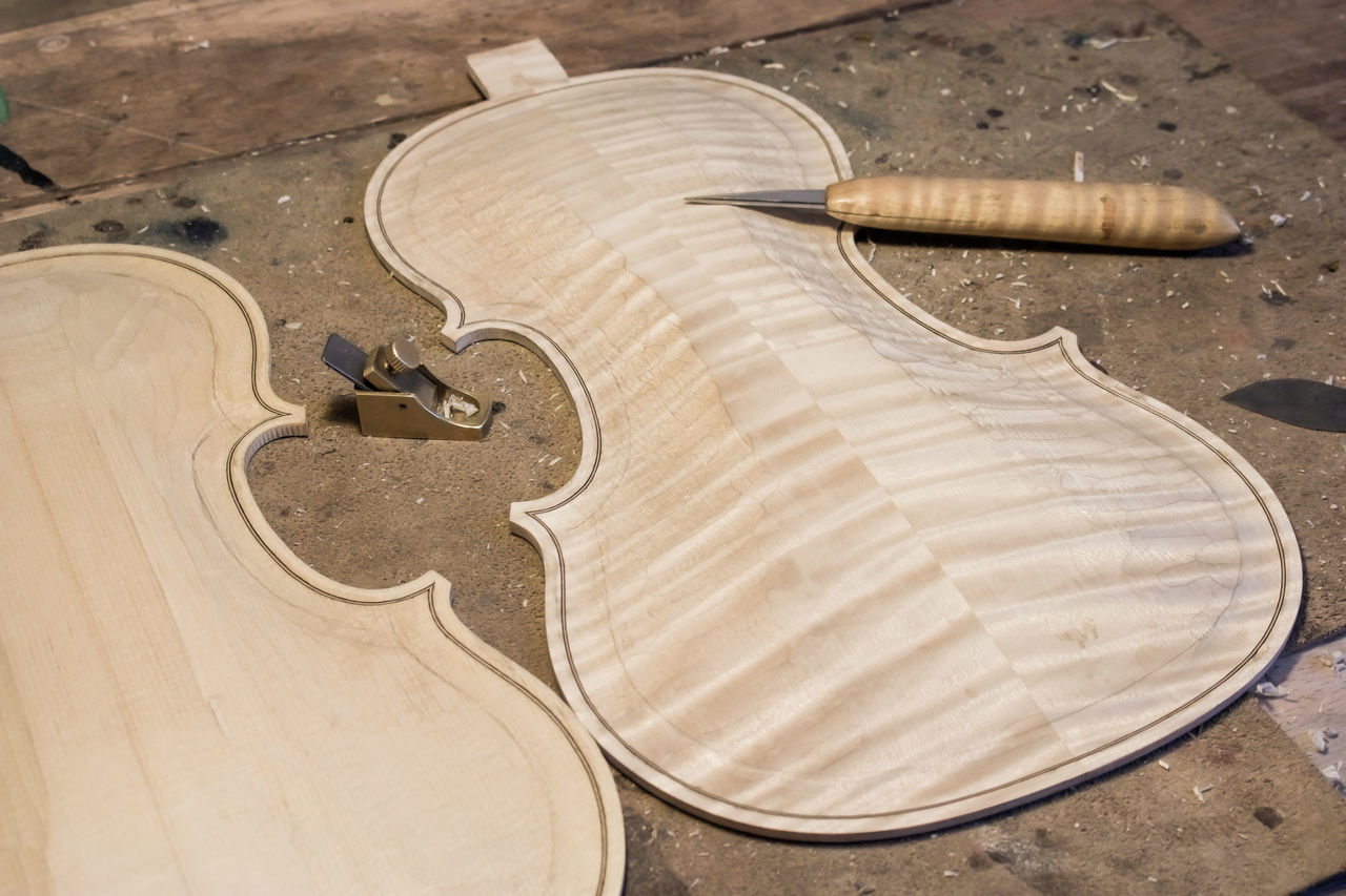 Arts Culture And Entertainment Close-up Creativity Cropped Design Directly Above Guitar Hobbies Holding Indoors  Lutherie Music Musical Instrument Old-fashioned Part Of Pattern Single Object Still Life Table Violin EyeEm x Lexus- Your Design Story Your Design Story Winners 🎁 EyeEm x Lexus - Your Design Story Your Design Story Winners 🎁
