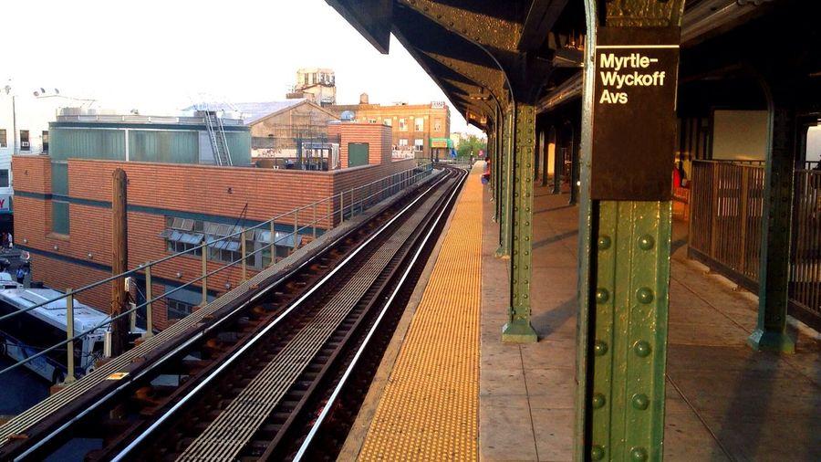 New York Brooklyn Bushwick Ridgewood M Train L Train Myrtle-Wyckoff Subway Just Around The Corner Elevated Track