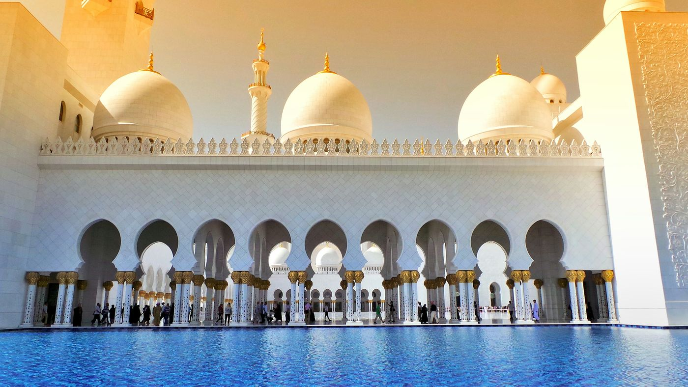 Abudhabi Mosque Travel Photography Colorful Momentum 阿布扎比 扎耶德清真寺 旅行摄影 惊艳 色彩 Architecture_collection Amazing Water Reflections Photography EyeEm Best Shots The Architect - 2016 EyeEm Awards EyeEm Best Edits Eyeemphotography