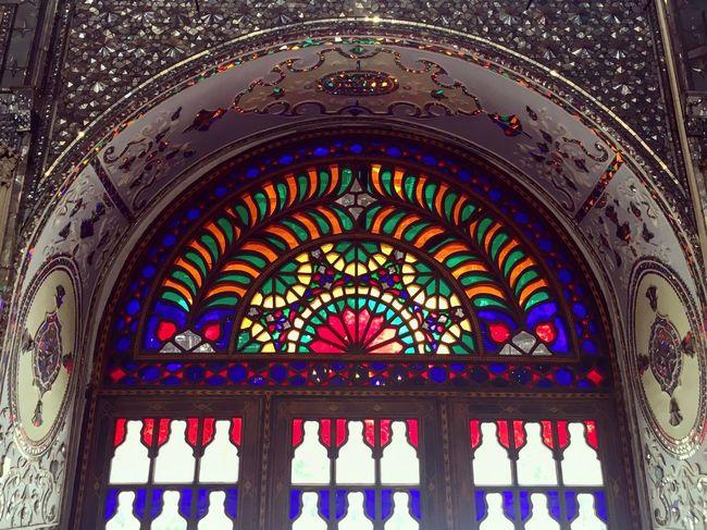ArtWork EyeEmBestPics Museum Colors ArchiTexture Architectural Detail Glass Art Golestan Palace Persian Architechture Iran Persian Style