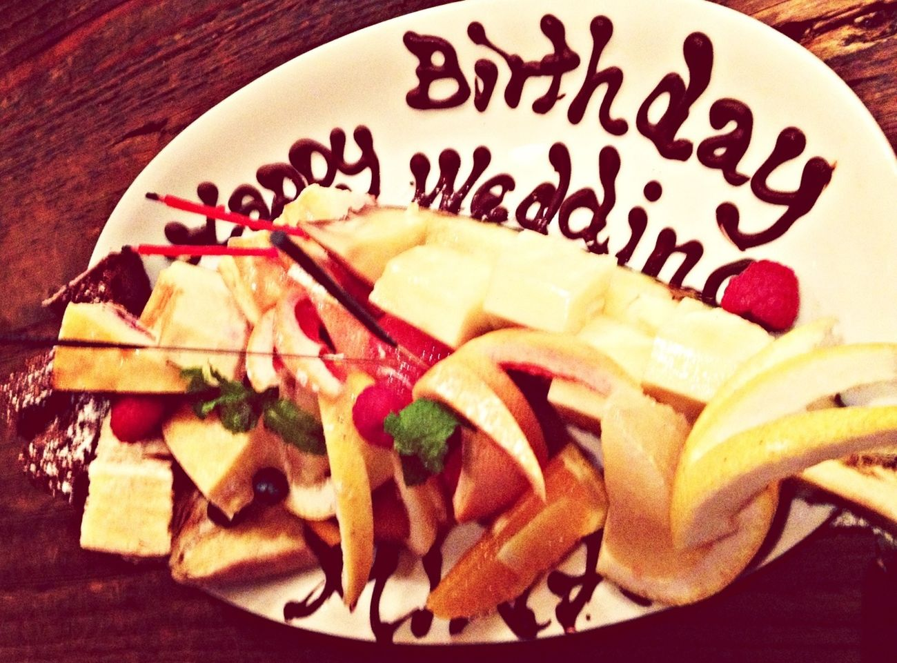Food Wedding Happy Birthday!