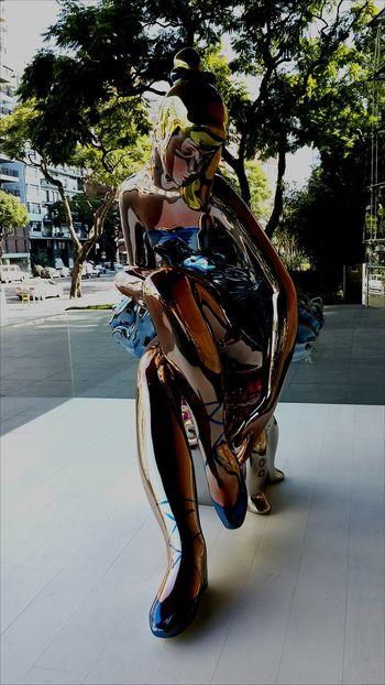 Malba Museum Woman Power Fancy Bright Brilliant Colors Sculpture