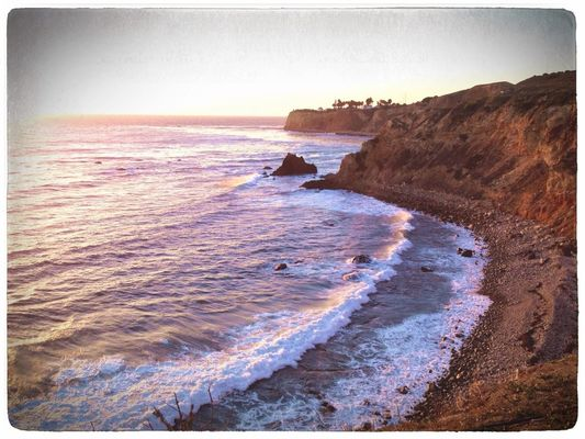 sunset at Terranea Resort by tom strubel
