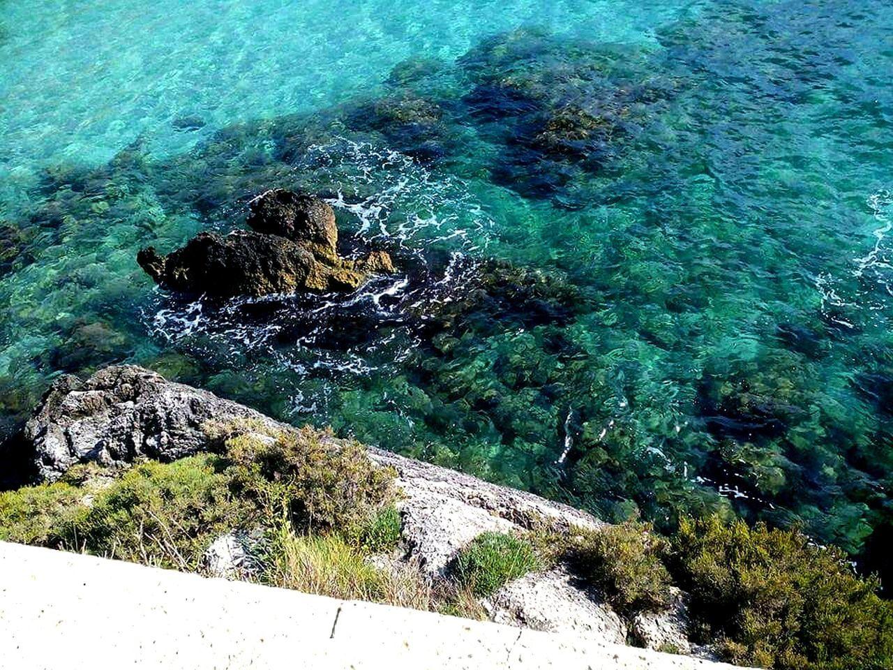Sea Sea Stones Green Sea Day No People Nature Outdoors Water Sunlight Nature Sea Plant