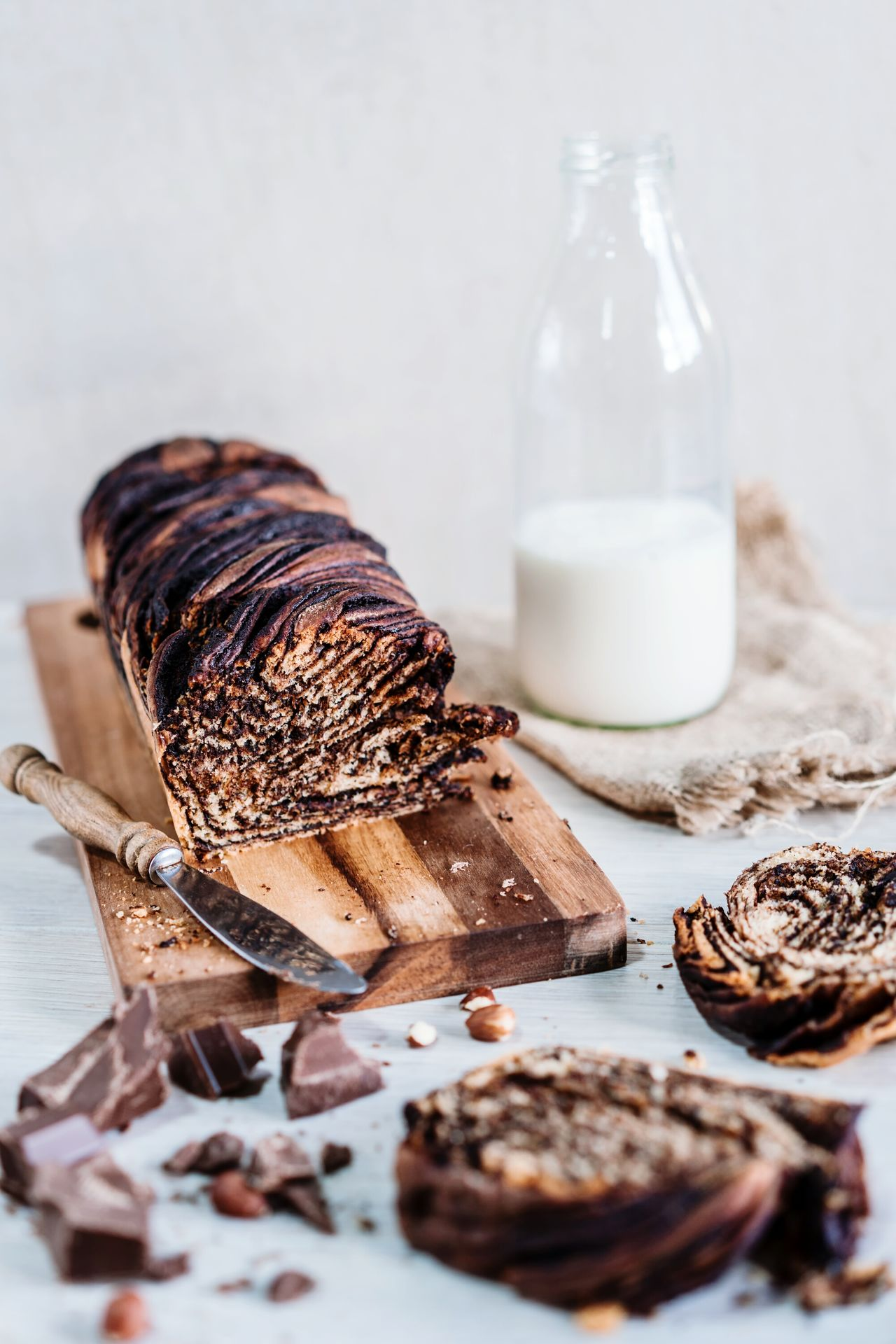 Delicious Babka 😊Food And Drink Milk Bottle Food Studio Shot Old-fashioned Homemade No People Indoors  Sweet Food The Week Of Eyeem Zeiss 55 F/1.8 Delicious ♡ Sweet Drinking Straw Drink Healthy Eating Close-up Freshness Day