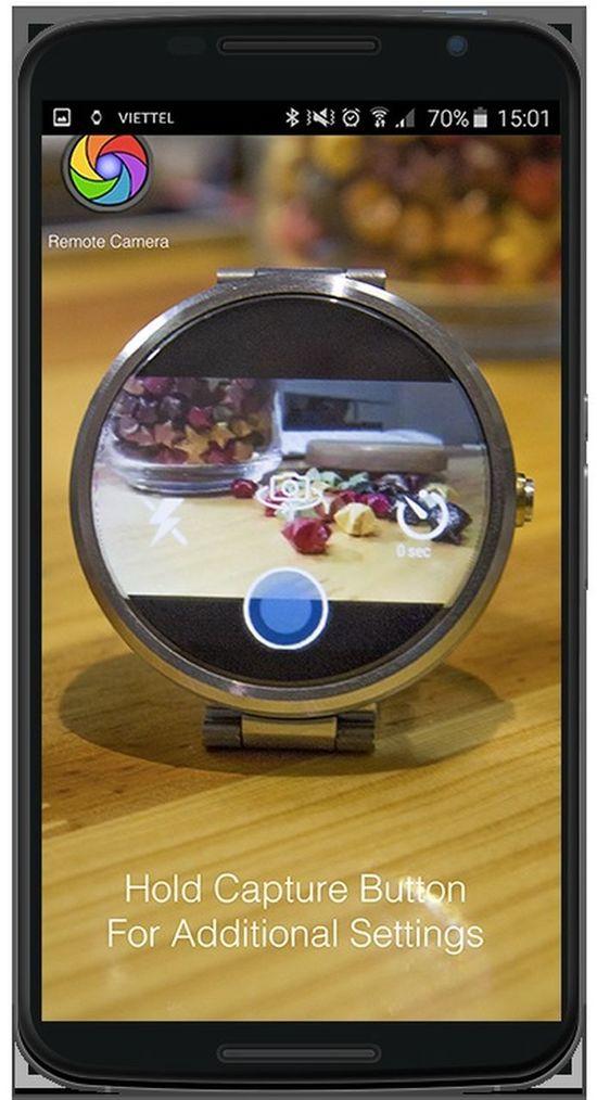 Thiết kế ứng dụng điện thoại - Remote Camera For Wear cho phép bạn điều khiển camera điện thoại của mình qua smart wear, chụp, xem, xóa ảnh tùy ý muốn. Thiết Kế ứng Dụng Di động