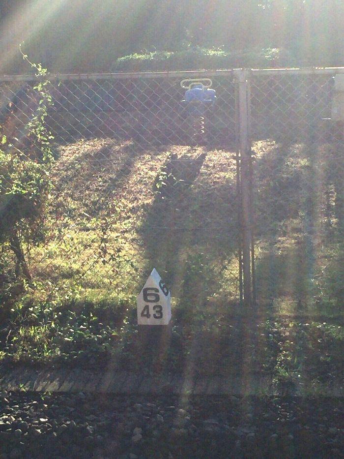 Sunrise Lens Flare Railway Signs
