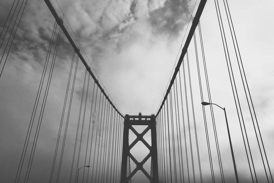 Oakland California San Francisco Bay Bridge Black & White Architecture Bridges