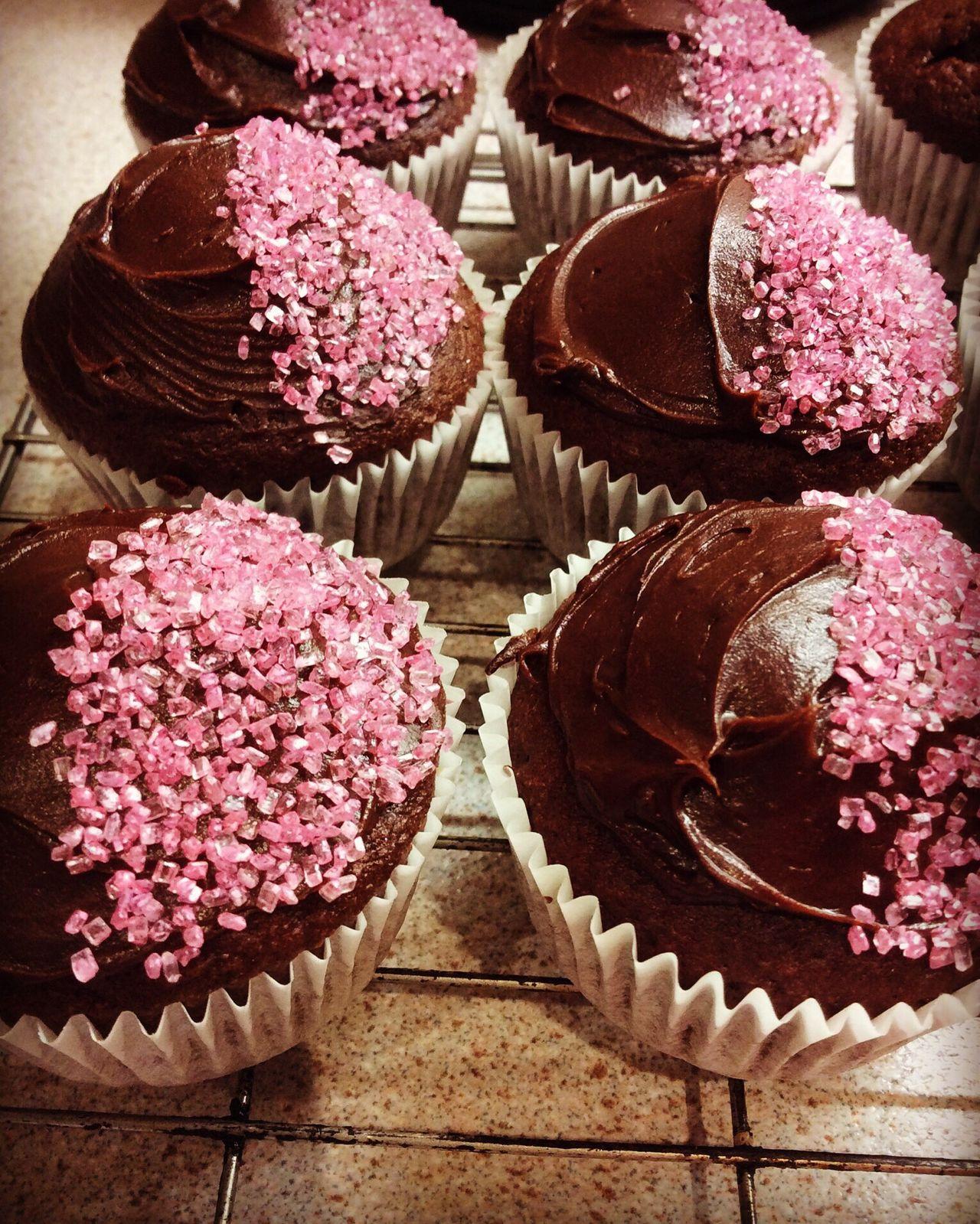 Cakes! Fairycakes Chocolate♡ Buns Homemade Cake Sprinkles Pink