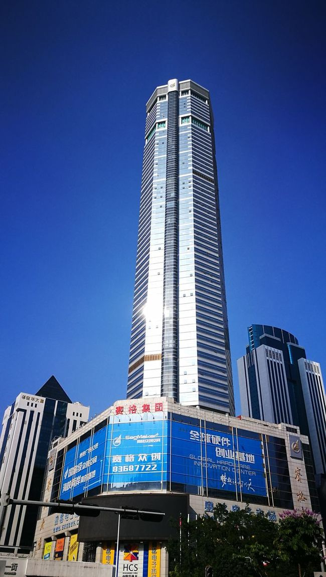 City Skyscraper Clear Sky Vertical Blue Modern Architecture Travel Destinations Sky Cityscape Outdoors Downtown District Day No People