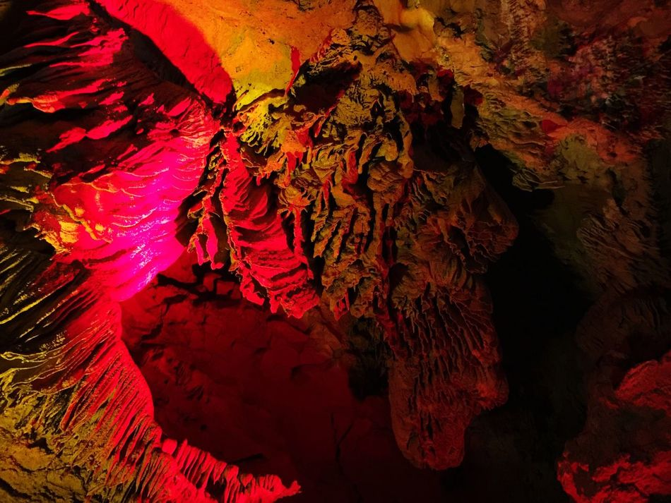 Colorful! Caves. Rocks. Lights. Rock formation. Yellow Dragon Cave, Huanglongdong, Zhangjiajie, National Park, Hunan, China Caves Rocks Rock Formation Lights Yellow Dragon Cave Huanglongdong HuangLongCave Zhangjiajie National Park Hunan China 43 Golden Moments Showcase July Colour Of Life