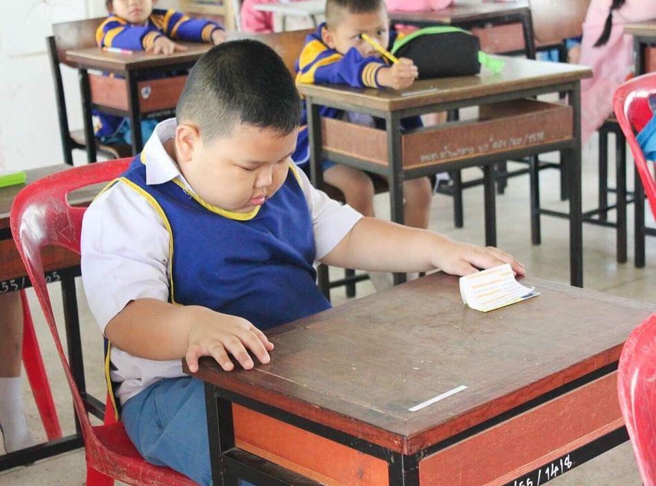 Seriousface Sleepy Child School Education Classroom Student Boys Banklang Lamphun Lamphun ,Thailand Exam Childhood Boy