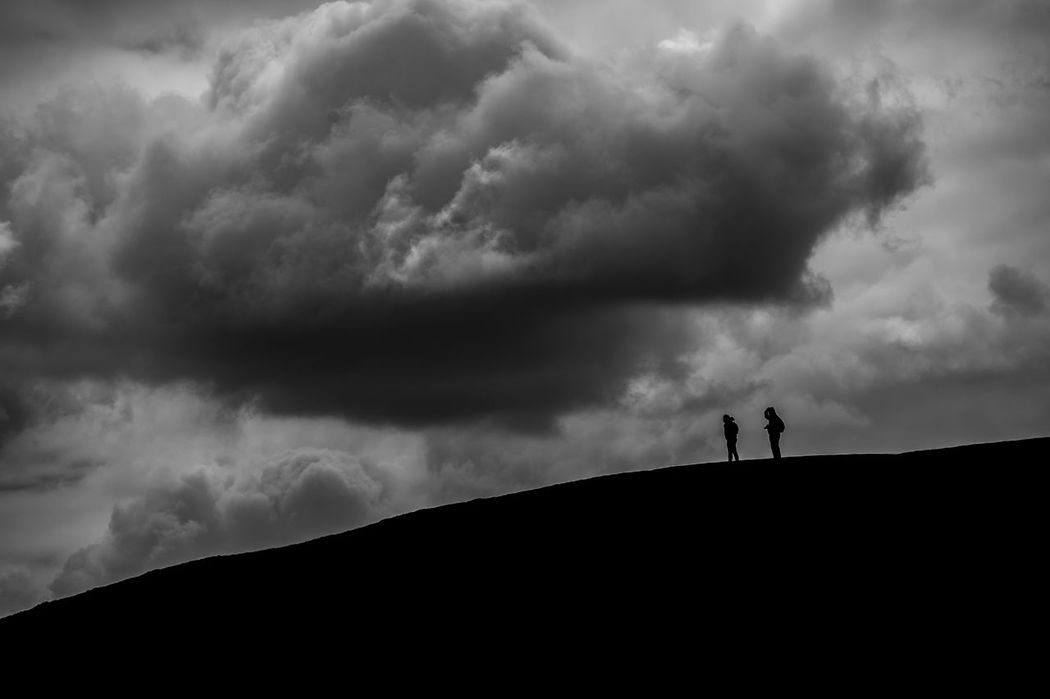 Walkers at British Camp, Malvern. Cloud - Sky Silhouette Dramatic Sky Storm Cloud Nature Blackandwhite Outdoors Black & White Monochrome Nature Nikon Nikonphotographer British Camp Malvern Worcestershire