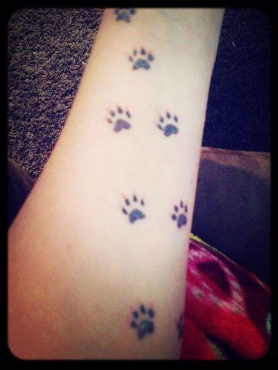 My puppy prints Tattoo ❤ My Tattoo