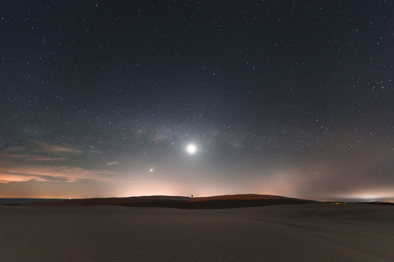 Astronomy Beauty In Nature Desert Galaxy Landscape Nature Night No People Outdoors Sand Scenics Sky Space Space And Astronomy Star - Space