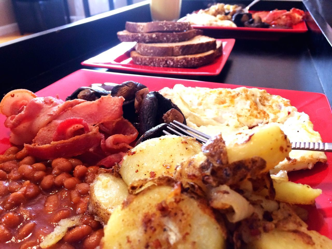 The full English. Breakfast English Breakfast Food Foodporn What I'm Eating English Breakfast Time Breakfast Of Champions Foodphotography Food Porn Abundance