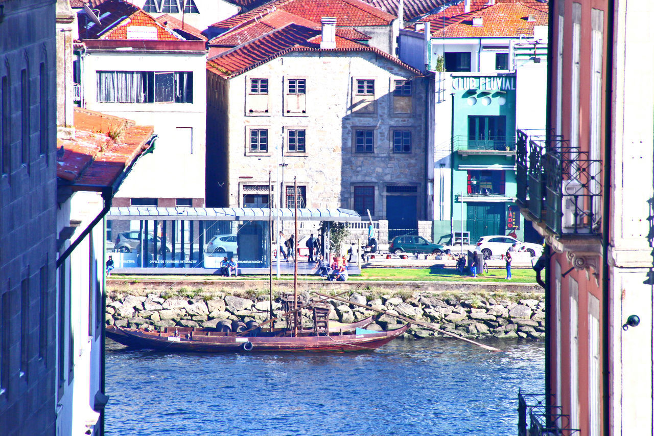 Architecture Barco Rebelo Boat Building Building Exterior Built Structure Canal City Day Downtown Porto Oporto Oporto, Portugal Outdoors Port Wine Porto Portugal Rebelo Rebelo Boat Residential Building Residential Structure Street Photography Porto Streetphotography Porto Town Water Waterfront