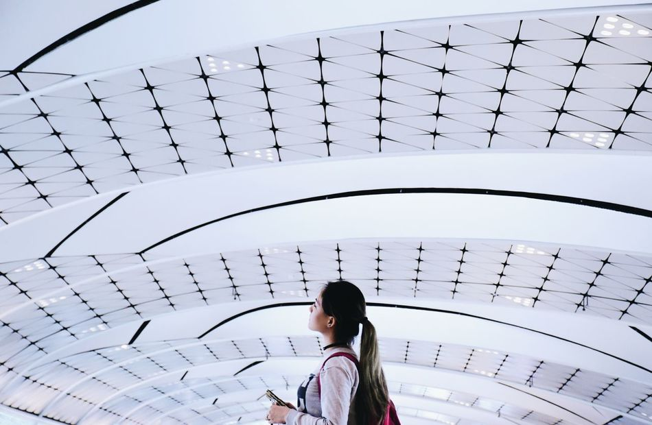 Beautiful stock photos of architecture,  20-24 Years,  Architecture,  Built Structure,  Ceiling