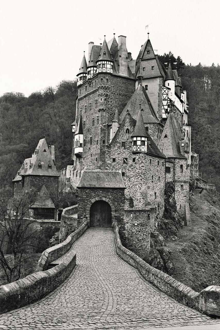 Eltz Castle Against Clear Sky