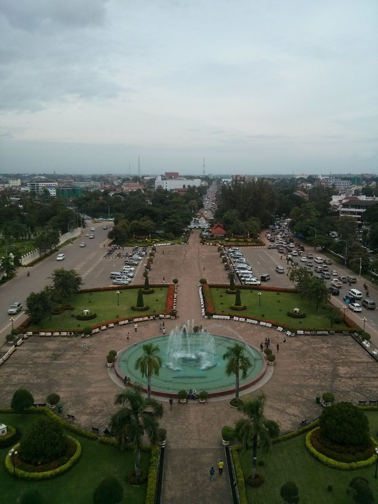 View over Vientiane, Laos. · Skyline City ASIA No Depth Of Field