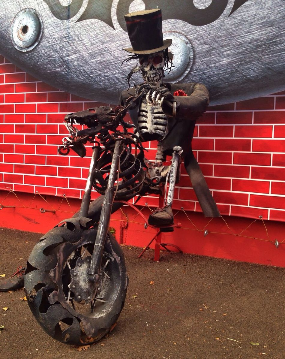 Очень приятный тип оказался?? Hello World Skeleton Motorbike Fun