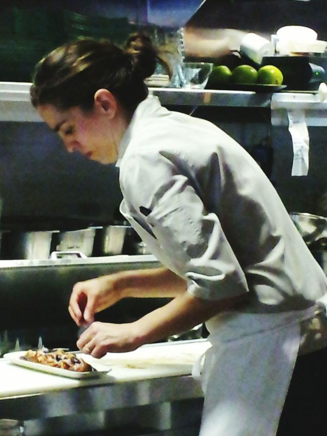North Carolina Restaurant Preparing Tapas Food Chef Woman