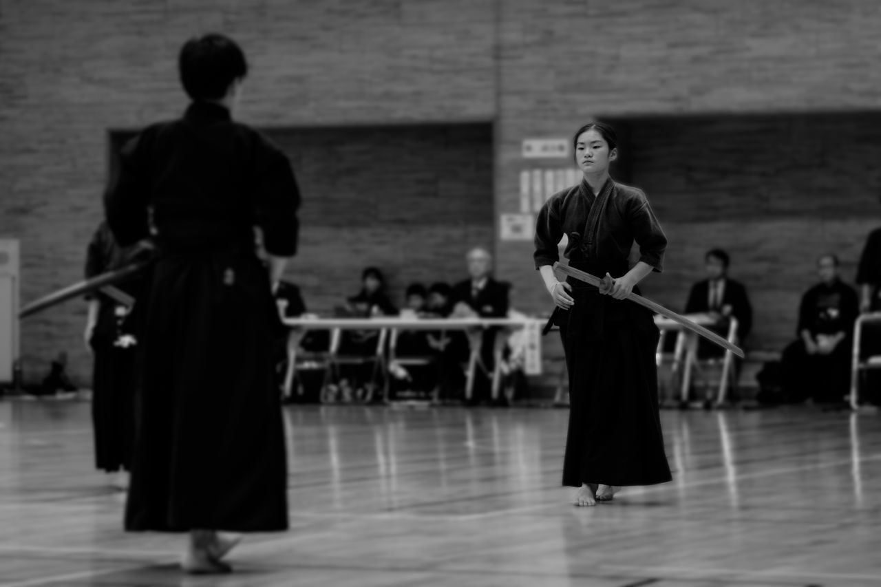 Balck And White Black & White Black And White Black And White Photography Black&white Blackandwhite Blackandwhite Photography Blackandwhitephotography Budo Indoors  Kendo Men Portrait Portrait Of A Woman Portraits Real People Rear View Sport Sports Sports Photography Standing Women Young Adult The Portraitist - 2016 EyeEm Awards