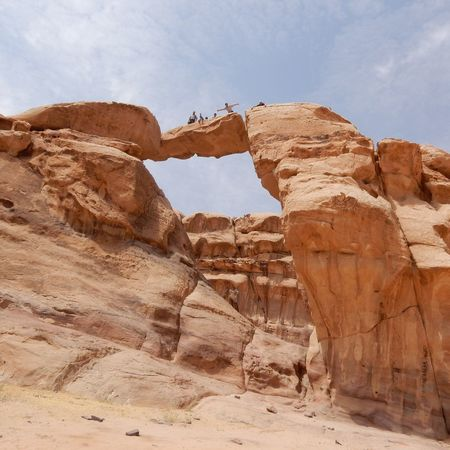 Geology Rock Formation Rock - Object Physical Geography Tourism Tourist Tranquil Scene Sky Tranquility Scenics Travel Destinations Travel Beauty In Nature Eroded Leisure Activity Full Length Cliff Cloud - Sky Landscape Nature Wadi Rum National Park, Jordan Wadi Rum Wadi Rum JORDAN Wadi