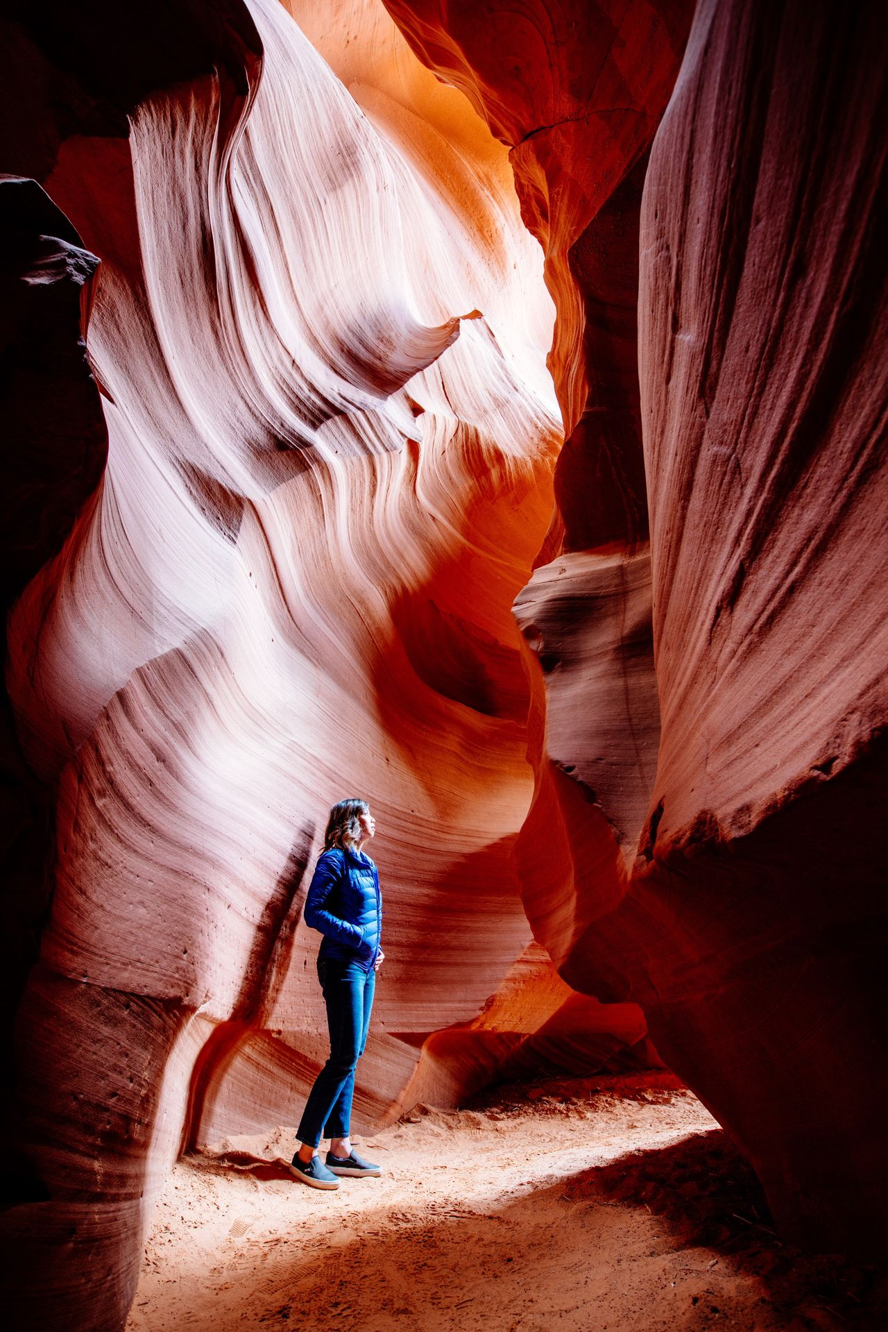 Inside Antelope a Canyon Canyon Rock - Object Rock Formation Geology Travel One Person Tourism Full Length Cave Travel Destinations People Adult Physical Geography Adults Only Exploration Adventure Beauty In Nature Vacations Landscape Waterfall The Great Outdoors - 2017 EyeEm Awards