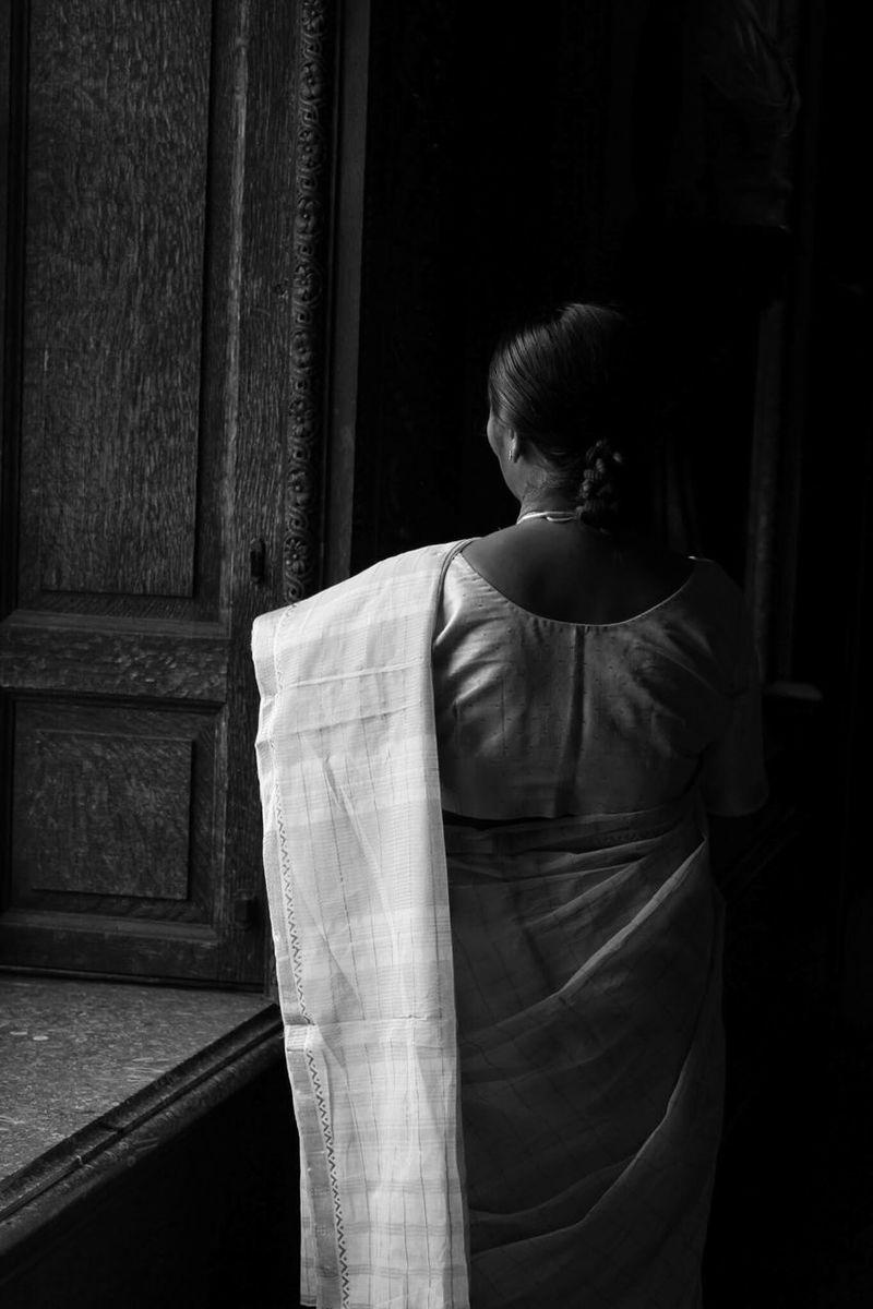 Portrait Of A Friend அம்மா Mother In Cotton Saree Chatsworth InspiresBySatyajitRay