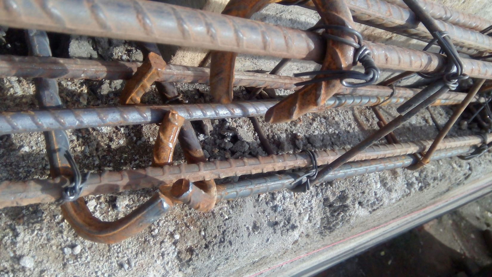 Round hook, In Situ Concrete Lintel Tension Construction Site, my handmade work, Thank God