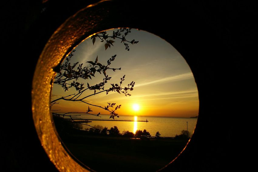 An intimate view of a Great Lakes sunset, Michigan, circle, nature Beautiful Sunset Lake Michigan Nature On Your Doorstep Beach Intimate Moments Great Lakes Lake Michigan Light And Shadows