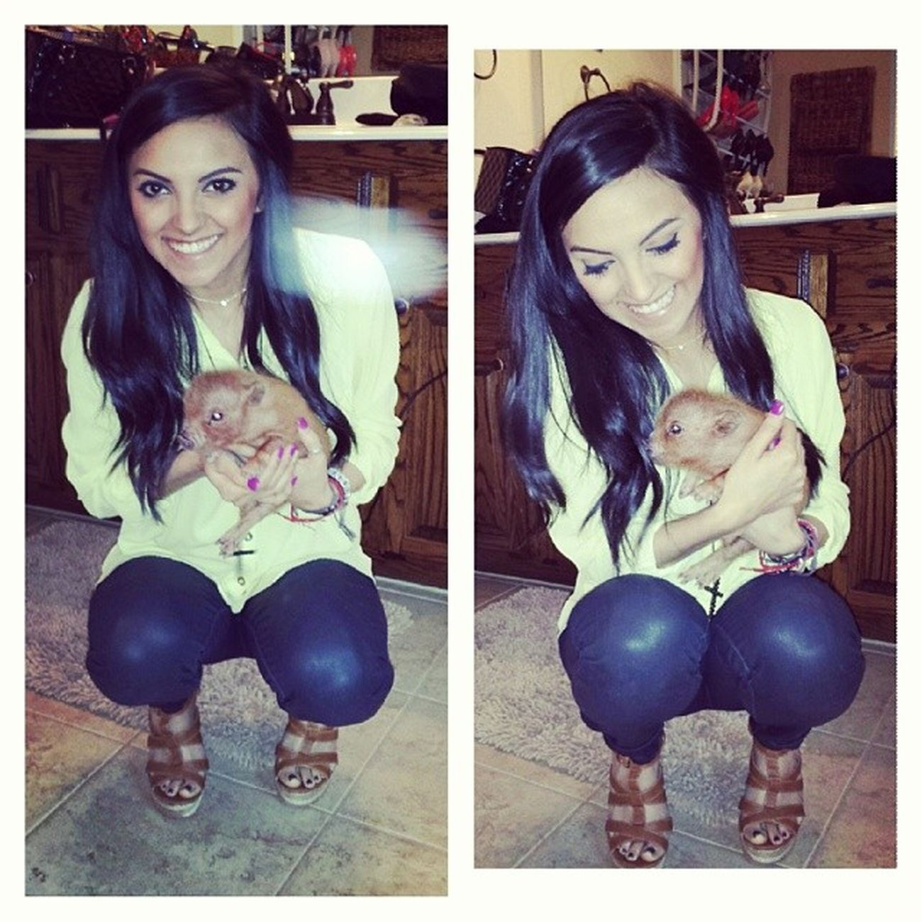 Still can't get over how precious this sweet little thing I met today is!!! BabyPig SoSweet Penelopeee Wittlebaby