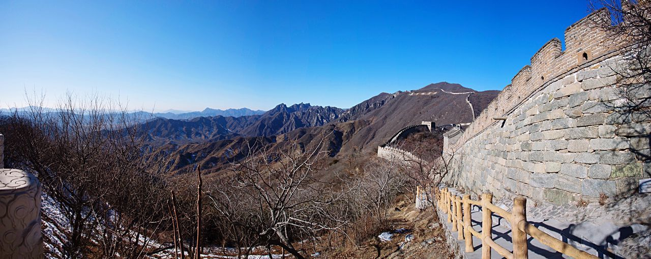 The Great Wall The Great Wall Of China The Great Wall In Winter Mountains View Landscape Panorama No People Nature Outdoors China ASIA Travel Traveling Heritage Culture History Architecture Monument Ancient Architecture