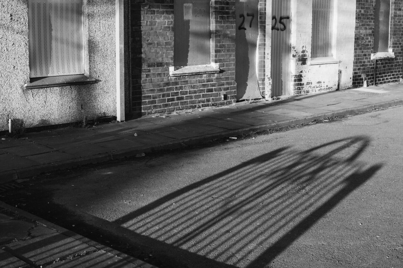 Long morning shadows | Built Structure Building Exterior Architecture Day Outdoors Urban Urban Geometry Blackandwhite Black And White Streetphotography Street Photography House Row Light And Shadow Taking Photos EyeEm Gallery Eye4photography  Exploring Sunlight Shadow