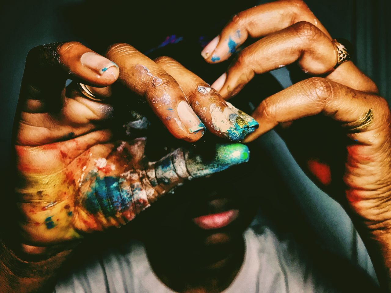 EyeEm Selects Touch of colors... human hand mobilephotography close-up shotoniphone7 photooftheday iPhoneography phonePhotography iPhone Photography VSCO Snapseed