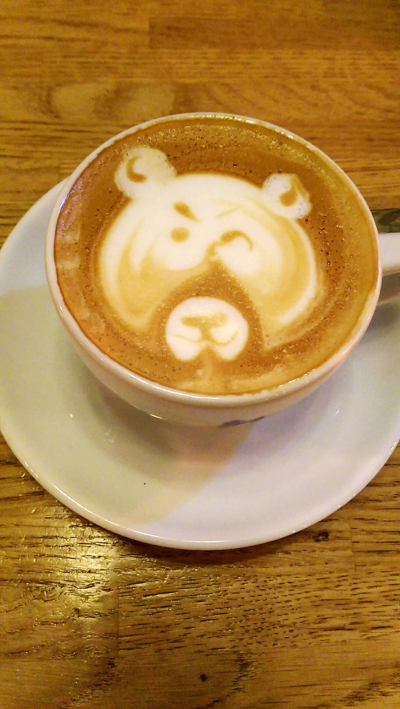 Art of Coffee Flat White Coffee Bear Art Baristalife Too Good To Eat Work Of Art Hi!