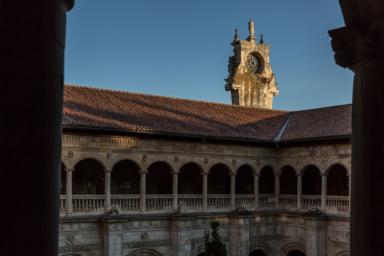 Cloister inside the parador in Leon Architecture Built Structure Cloister No People Outdoors Parador Sunset Travel Destinations