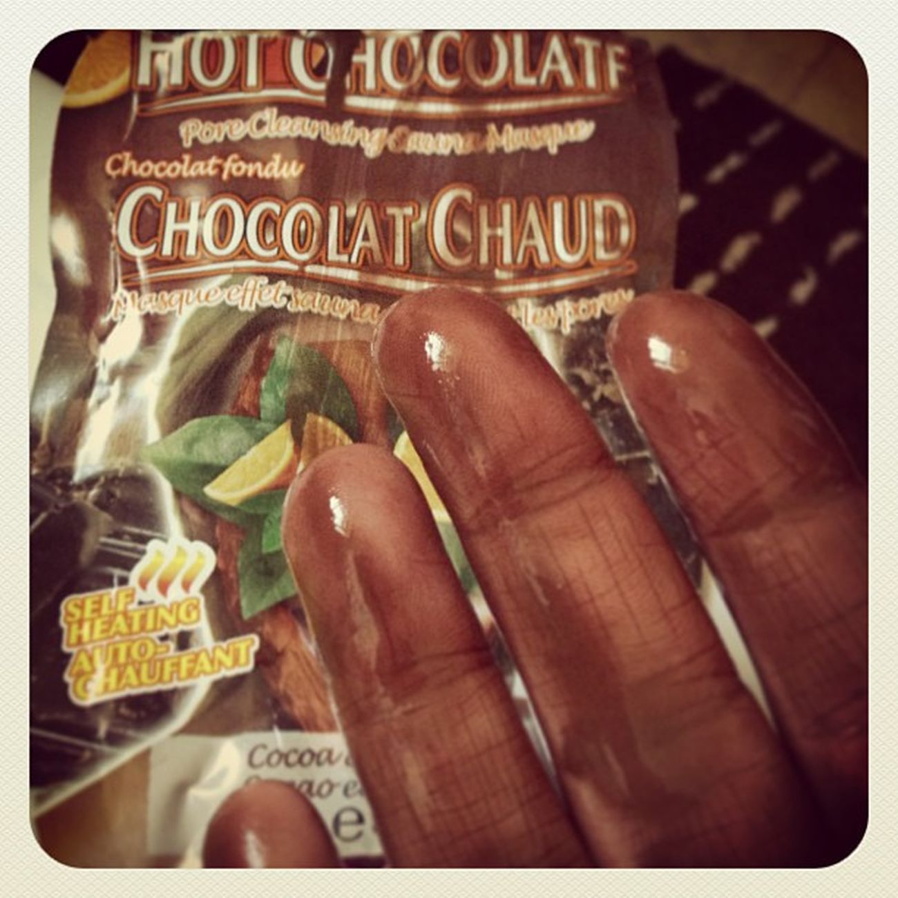 Wowzers! Chocolatfondu Chocolatechaud Cocoaorange Facemask pamper pamperday