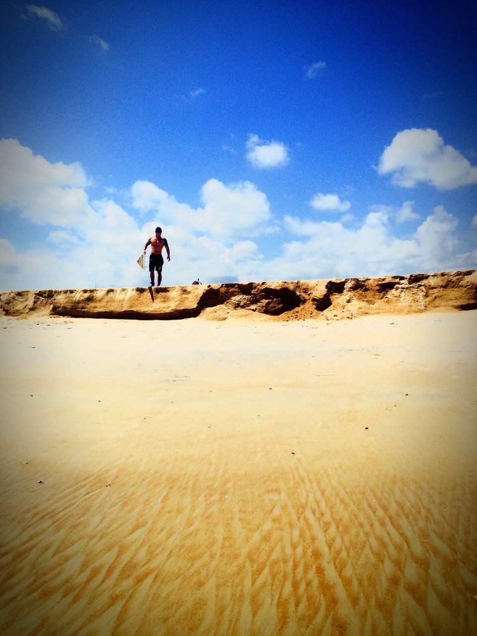 sky, landscape, one person, full length, sand, walking, nature, day, desert, outdoors, adventure, real people, sand dune, people