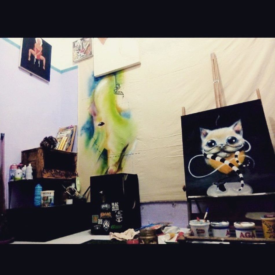 my artroom Artspace Room Painingroom Zhuwmoonstruck surabaya java indonesia serbukkayu