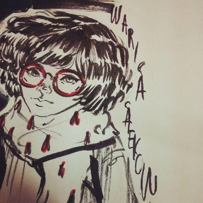 ... Sketch Draw Illus Ink style girl thaidraw